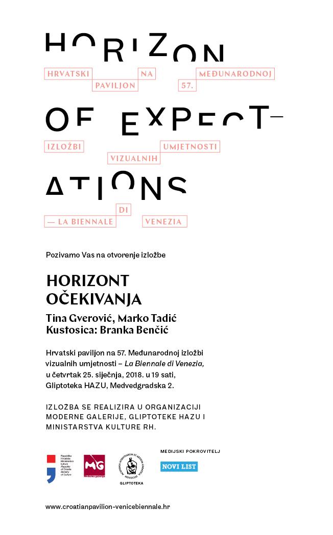 Slikovni rezultat za Horizont očekivanja / Hrvatski paviljon na 57. Venecijanskom bijenalu