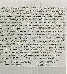 Letter from Ruđer Bošković